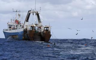 A hake trawler with tori ines © Peter Chadwick