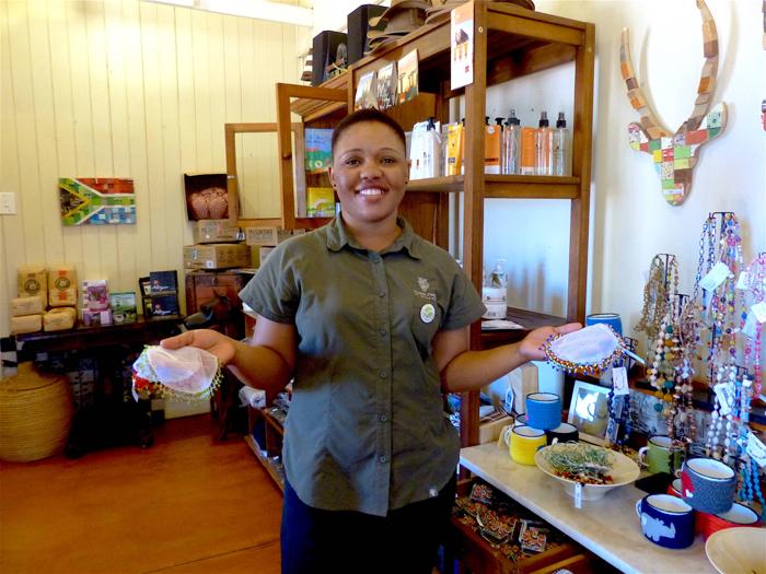 Ntobeko proudly presents her entrepreneurial talent ©Sharon Gilbert-Rivett