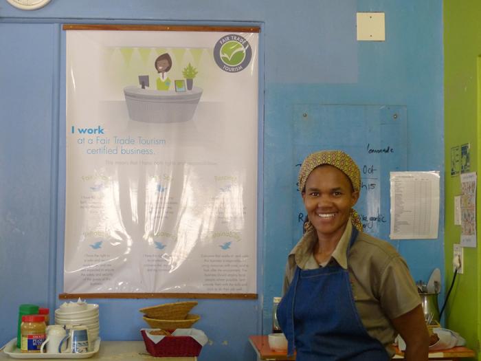 Zanele is a Fair Trade Tourism fan ©Sharon Gilbert-Rivett