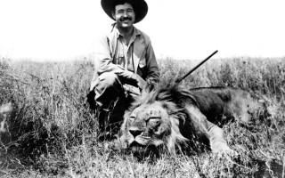 Ernest Hemingway on safari in 1934