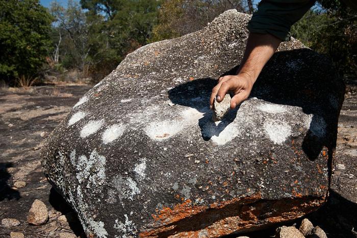 One of the ringing rocks in Matobo