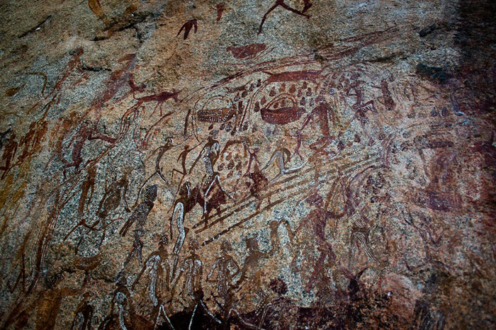 The rock paintings - an expression of what life was like for the San