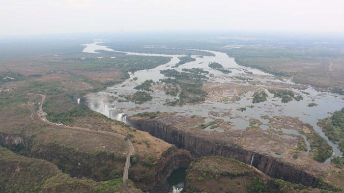 Aerial image of Victoria Falls taken on 4 December 2015