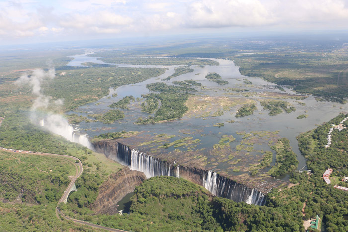 Aerial image of Victoria Falls taken on 15 January 2016