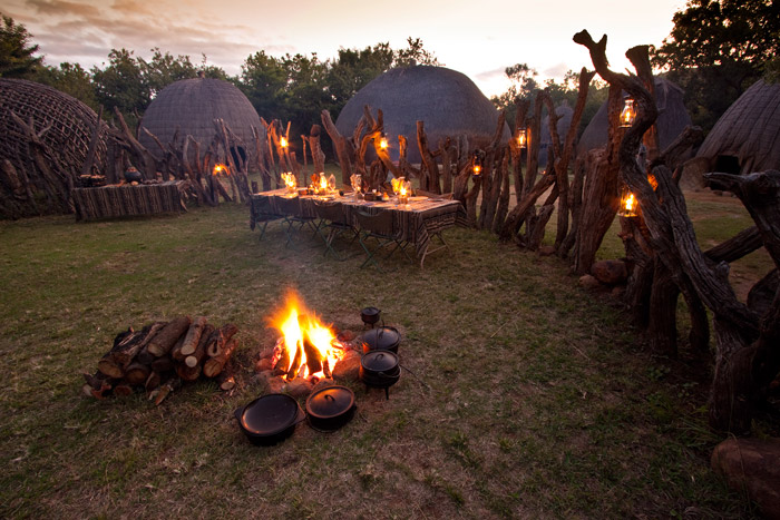 Feel your energy rise to the drumbeat of Africa under starry skies at Isibindi Zulu Lodge in KwaZulu-Natal. © Guy Upfold