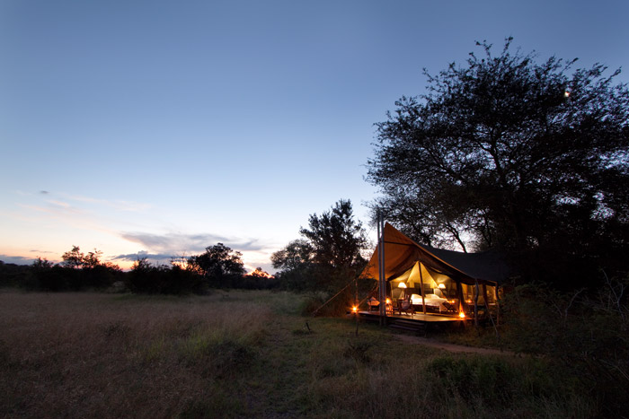 Experience these 1820's style Colonial explorer tents at Plains Tented Camp in the Kruger National Park © Guy Upfold