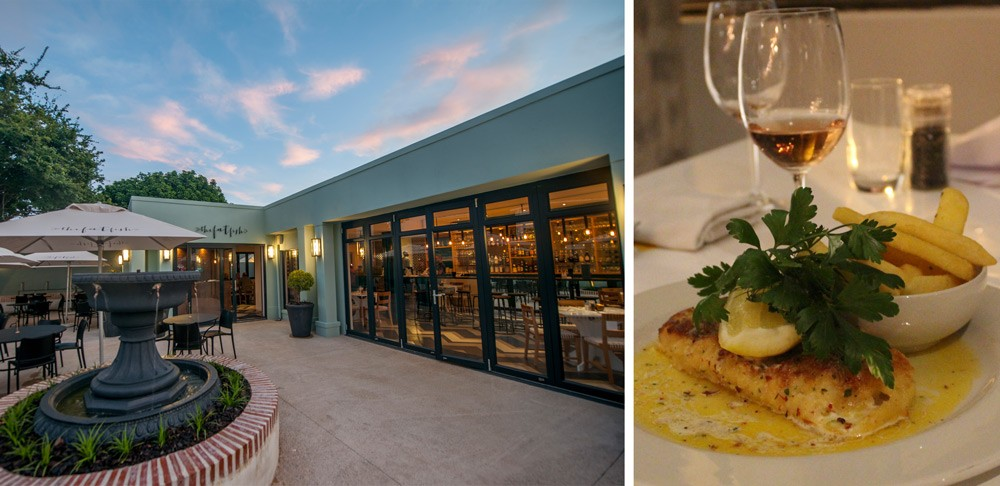 The newly opened Fat Fish restaurant in George ©Fat Fish (left), Kingklip in smoked chilli butter ©David Winch (right)
