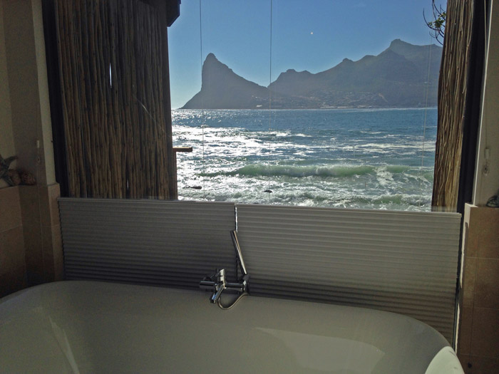 The view from the bath at Tintswalo Atlantic ©Janine Avery