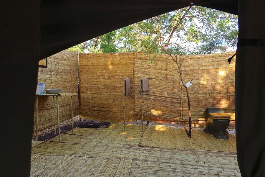 Eco-friendly-bush-bathrooms-at-Nkonzi-Camp