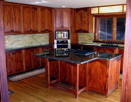 African Mahogany kitchen cabinets ©j l t