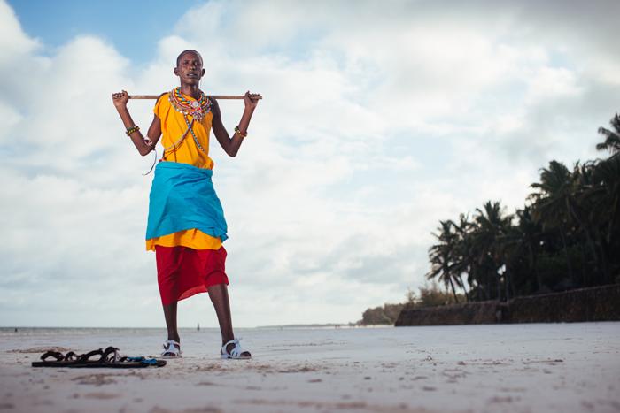 Maasai On Beach
