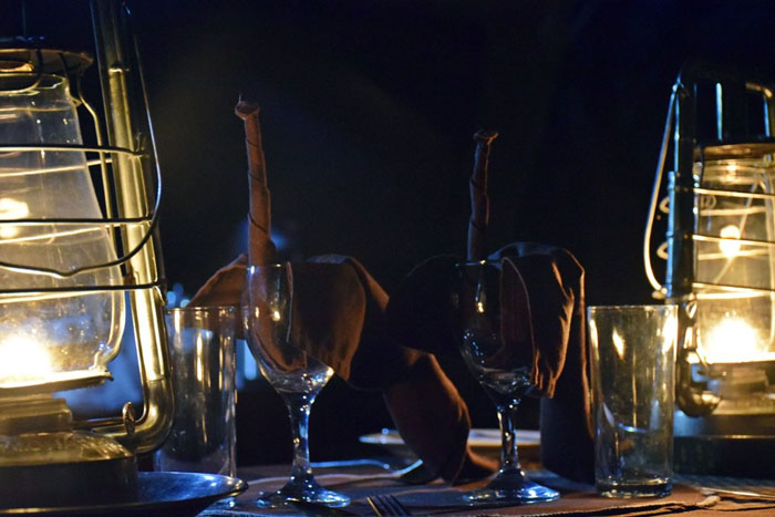 Dinner-by-candlelight