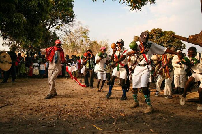 dancers celebration mozambique