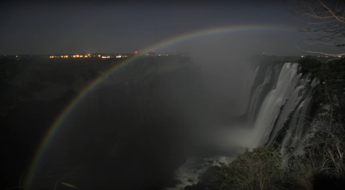 The Magical Victoria Falls Lunar Rainbow Africa Geographic