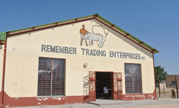 A trading store on the road in Namibia