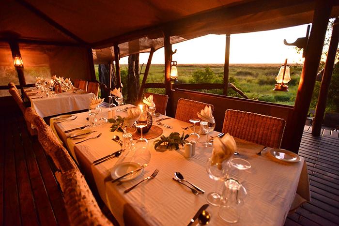 Extravagant dining area