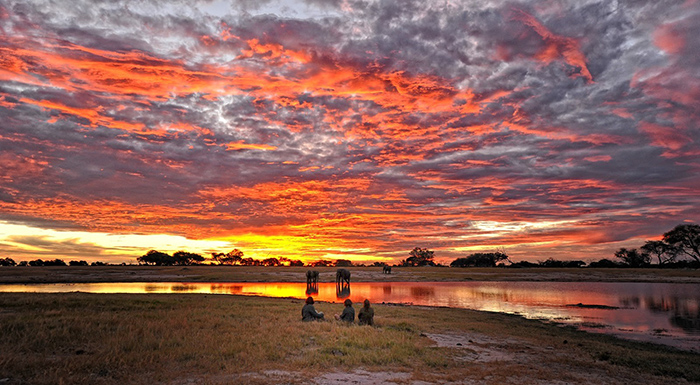 Guests admire the colours of this sunset
