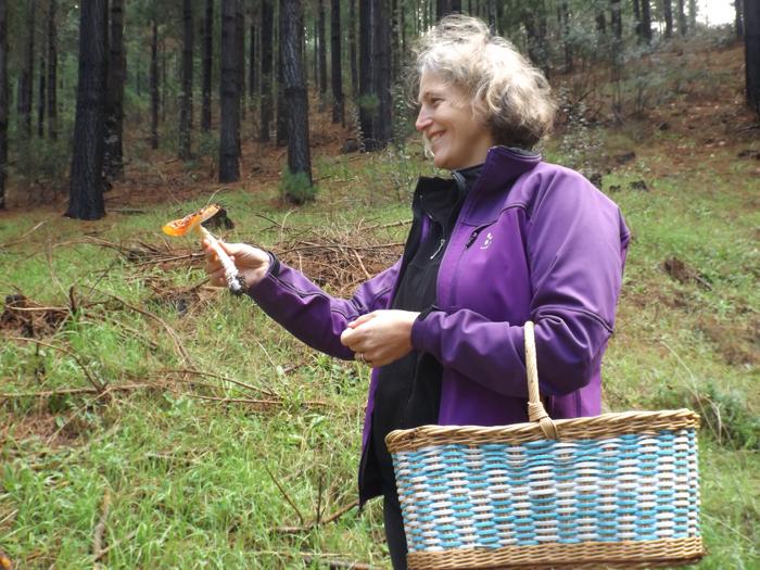 Nora-showing-mushroom