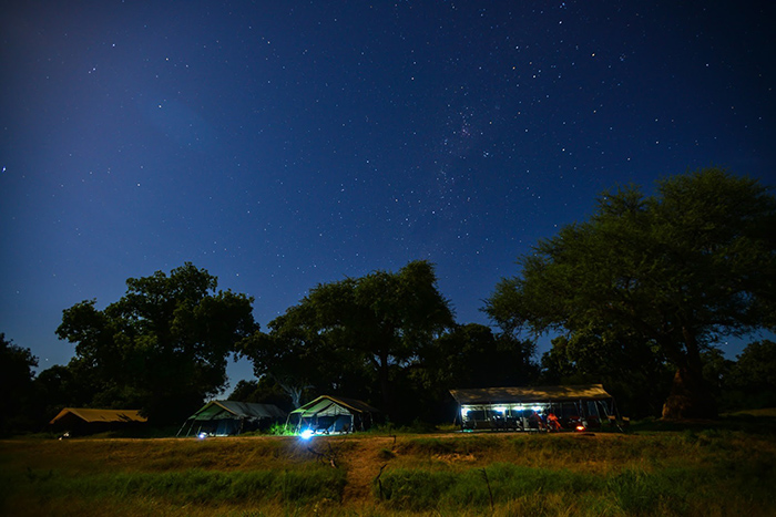 Zambezi Expeditions in Mana Pools National Park, with a blanket of stars overhead
