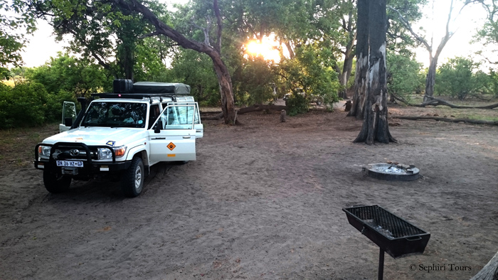 camp-in-Botswana