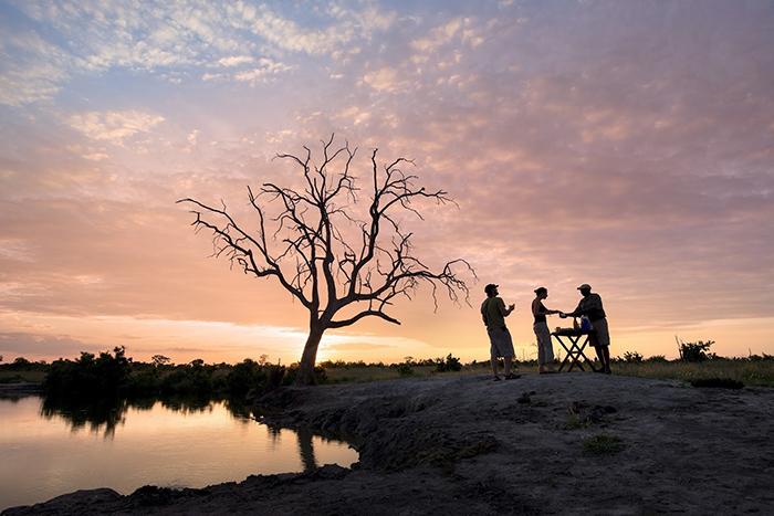 over Somalisa Camp in Hwange National Park, Zimbabwe
