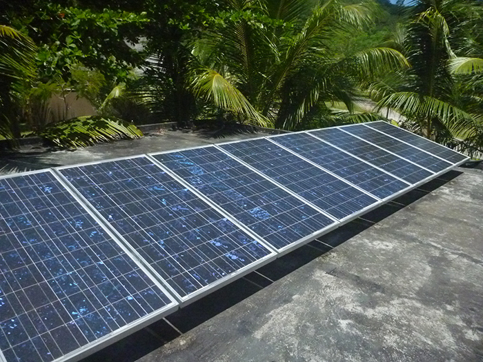 Photovoltaic panels are part of their green energy supply.