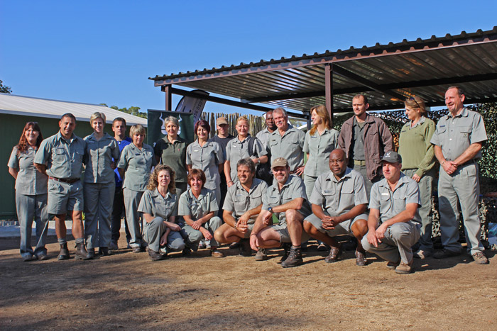 Members of the SANParks Honorary Rangers at the hand over ceremony.