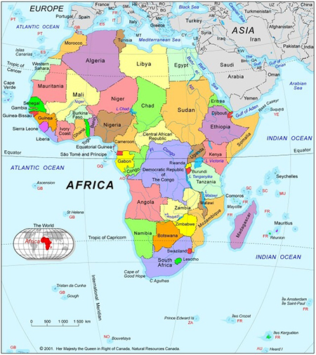map of africa - Africa Geographic