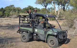 Kruger National Park rangers in action on their new Gator Extreme Terrain Vehicle, supplied by SANParks Honorary Rangers