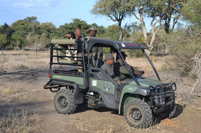 Kruger National Park rangers in action on their new Gator Extreme Terrain Vehicle