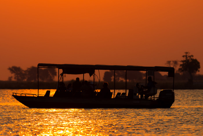 Few treats beat a Photographic cruise on the Chobe like the one that awaited us on the first day © Joe Knapman