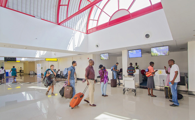 Image 2 - Check-in at Victoria Falls International Airport's rehabilitated domestic terminal.