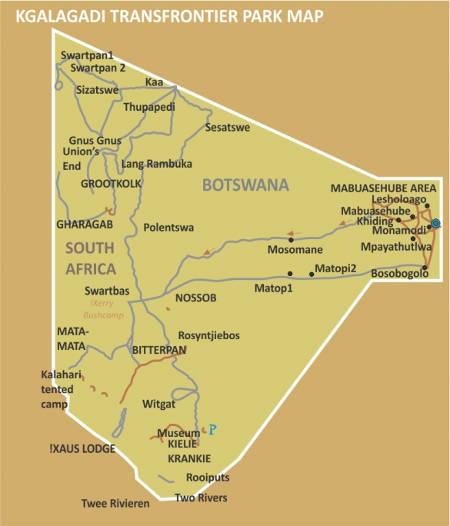 Mabuasehube-Map