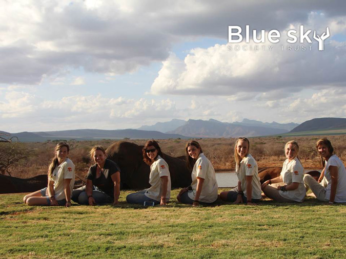 Blue Sky Society, all-women fundraising expedition, Africa