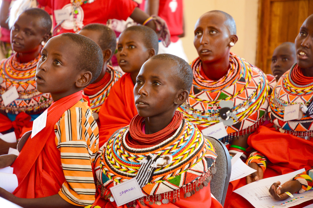 Young herders being educated