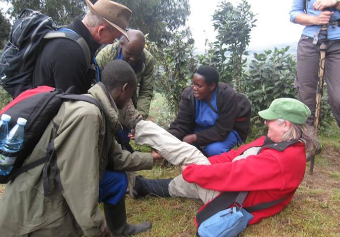 hiking gear, gorilla trekking