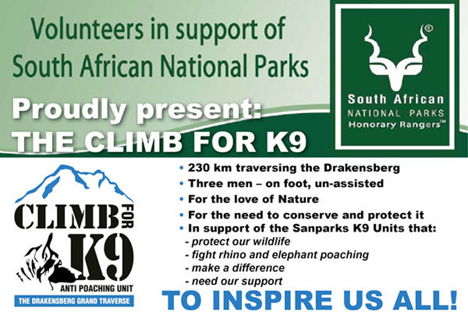 Climb for K9, SANParks