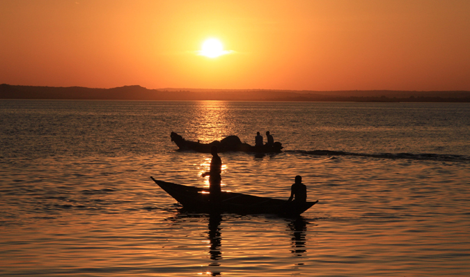 A beautiful sunset over Lake Victoria