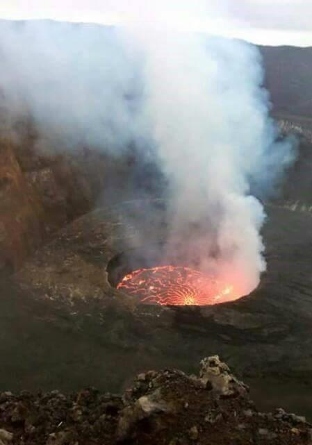 Virunga volcano, DR Congo