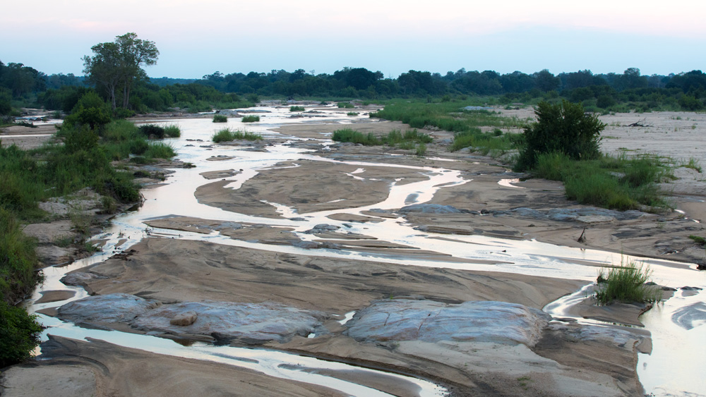 An expansive view of the Sabie River