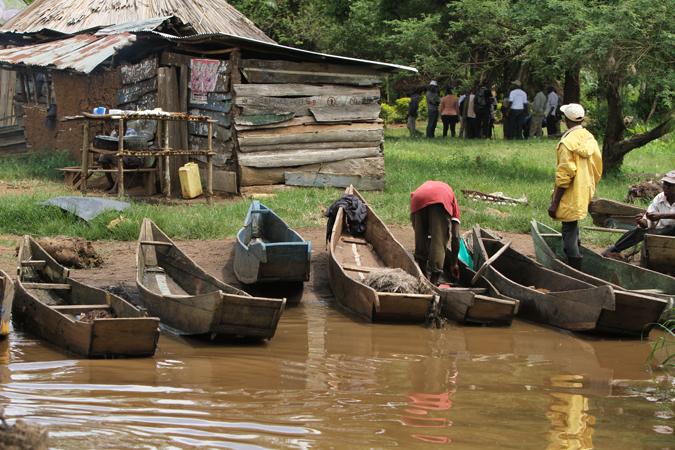 fisherman, Mabamba Bay, Uganda