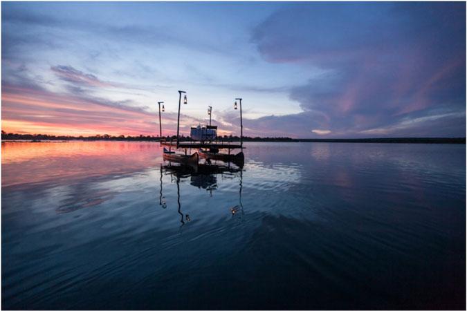 sanpan-dinner, Zambezi River
