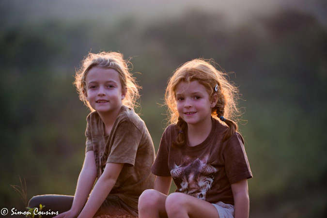 Children on safari, South Luangwa, Zambia