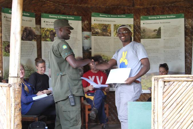 gorilla trekking, certificate