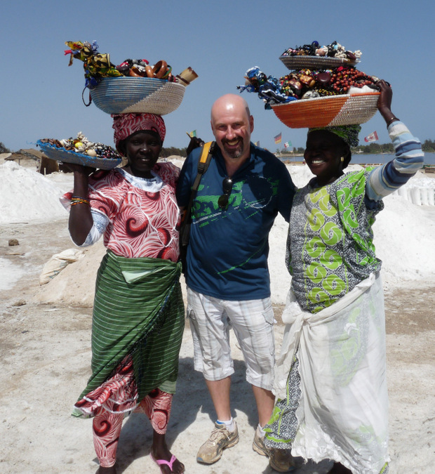 three people, culture, Lake Retba, Senegal
