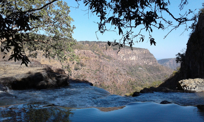 View from the top of Kalambo Falls, waterfall