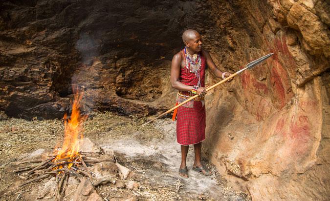 Kakiya cave, rock paintings, Masai Mara, Kenya