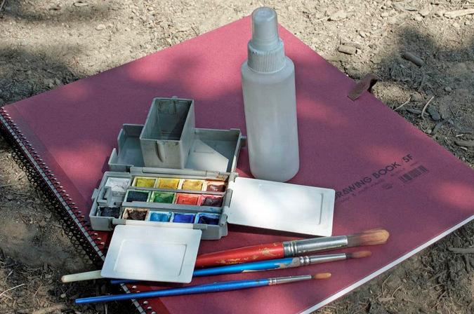 art materials for an art safari