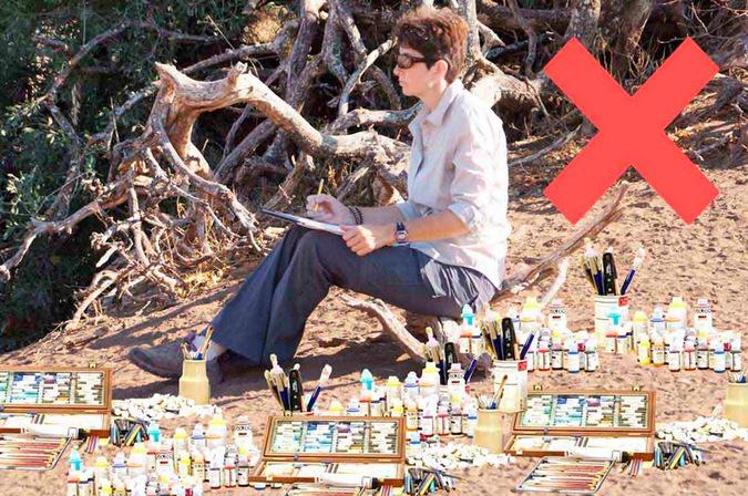 too many art materials for an art safari
