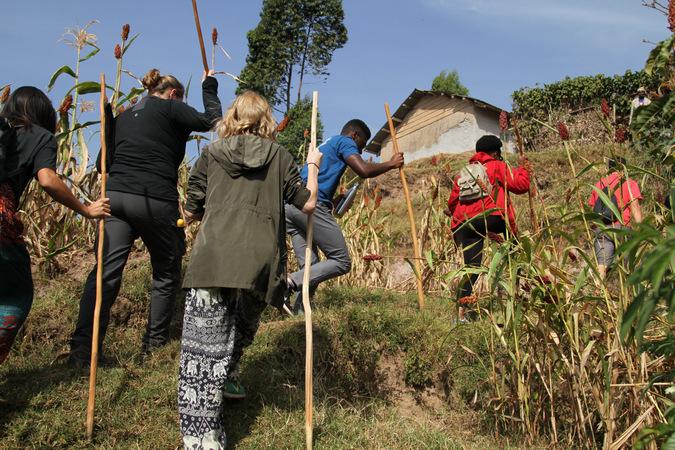 village walking excursion by Lake Bunyonyi, Uganda
